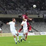 """Aprig disputat pe alocuri,   meciul dintre """"U"""" şi CFR s-a terminat 0-0,   inclusiv la capitolul cartonaşe / Foto: Dan Bodea"""