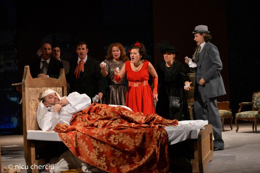 """Al treilea """"act"""" al tripticului, """"Gianni Schicchi"""" este inspirat de """"Cantecul al XXX-lea"""" din """"Infernul"""" de Dante Alighieri/Foto: Nicu Cherciu"""