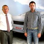 Cercetatorii Bosch, doctor inginer Roland Schmid (în stânga) și Cătălin Cosmin Golban (în dreapta).