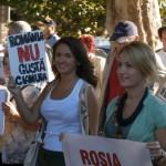Bistrițeni de toate vârstele au participat astăzi la protestul împotriva exploatării de la Roșia Montană