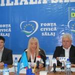 Conducerea Partidului Forţa Civică Sălaj a organizat vineri o conferinţă de presă