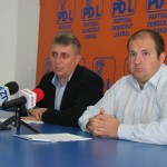 Lucian Bode,   la conferinţa de presă de azi alături de purtătorul de cuvânt al PDL Sălaj,   Claudiu Bîrsan