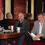 Silviu Purcărete,   Gabor Tompa şi Mihai Măniuţiu,   la conferinţa de presă organizată cu ocazia deschiderii stagiunii/Foto: Dan Bodea
