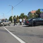 Accidentul a avut loc în jurul orei 15.00, pe strada Botizului din Satu Mare
