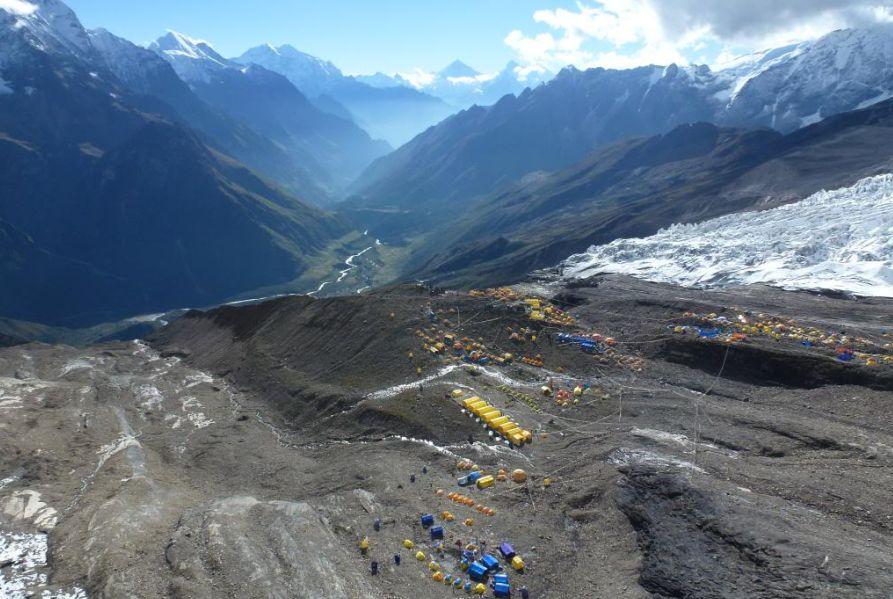 Echipa a ajuns în acest sfârşit de săptămână în tabăra de bază Manaslu, 4700 m/Foto:www.pprune.org