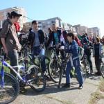 Startul turului ciclist a fost dat la ora 10:30 din faţa Palatului Administrativ