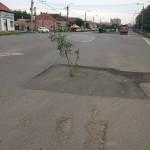 """Strada Cloșca,   asfaltată """"original"""" / Sursa foto: facebook.com"""