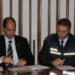 Florian Găzdac,   directorul Poliţiei Comunitare și Inspectorul principal Cătălin Dănciuţ - şeful Biroului Rutier al Poliţiei municipiului