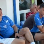 Sandu Negrean (stânga) și Cristian Coroian (dreapta),   duo-ul care încearcă readucerea Gloriei Bistrița în Liga 1 (foto: sportulbistritean.ro)