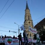 A patra duminică de proteste la Cluj-Napoca a fost marcată de un marș pe ruta Centru-Mănăștur-Centru/ Foto: Dan Bodea