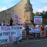 Aproximativ 50 de băimăreni au participat la protest