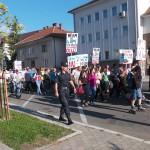 Zeci de băimăreni au ieșit duminică în stradă