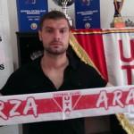 Tiberiu Stan,   ultima achiziţie pentru UTA Arad.Foto:aradsport.ro