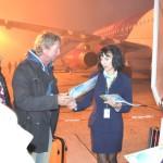 Un nou capitol din istoria Aeroportului Internațional Cluj s-a încheiat odată cu zborul Cluj-Napoca-Dortmund (Foto: Radu Hângănuț)