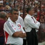 Fernando Santos,   alături de Ioan Andone,   în Gruia / Foto: Dan Bodea