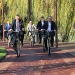 Noul parc de lângă lacul Gheorgheni a fost deschis astăzi publicului și este cel mai modern din județ. (FOTO: Dan Bodea)