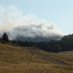 Incendiul care s-a declanşat,   joi,   în zona Vârfului Pleşca / Sursa foto: emaramures.ro
