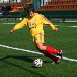 Golghetera Olimpiei Cluj,   Alexandra Lunca și-a făcut datoria și în meciul cu Independenta Baia Mare,   a marcat de patru ori / Foto Dan Bodea