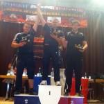"""Trei oşeni s-au aflat pe podium la sfârşitul săptămânii trecute la Concursul internaţional de skandenberg """"Ultimate arm fighting – French International Contest of Armwrestling"""""""