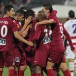 """De 7 ori au făcut """"hora bucuriei"""" fotbaliştii de la CFR în meciul cu Oţelul Galaţi / Foto Dan Bodea"""