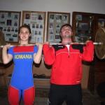 Denisa și Ionuț Felecan,   fiică și tată,   elev și profesor,   un singur scop: o medalie olimpică / Foto Dan Bodea