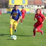Dan Gavrilescu (la minge),   omul meciului Olimpia Satu Mare - FC Bihor