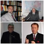 În sensul acelor de ceasornic: Lucian Nastasă-Kovács,  Ottmar Trașcă,   Remus Câmpeanu și Varga Attila
