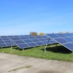 Cele patru panouri fotovoltaice din Parcul Industrial Vetiș  FOTO Vasile Mihovici