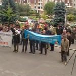 Sindicaliştii din Maramureş şi-au strigat neputinţa în stradă