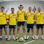 Victory Cluj,   cu Daniel Săsărman şi Florin Purice (primii doi din stânga) a dominat autoritar ediţia din acest an a CN de fotbal-tenis / Foto: Dan Bodea