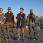 Curatorul Mihai Pop alături de artiştii Ciprian Muresan,   Cristian Rusu and Şerban Savu/Foto: Frank Herfort