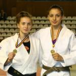 Alexandra Pop,   argint la CM juniori şi Loredana Ohâi,   aur la CE tineret,   două din speranţele judo-ului românesc la JO de la Rio 2014 / Foto: Dan Bodea