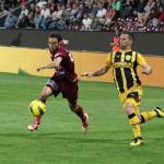 Camora și Mugurel Buga ar putea oferii dueluri extrem de interesante în confruntareas FC Brașov - CFR Cluj / Foto: Dan Bodea