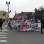 Aproximativ 200 de studenti au participat la mars
