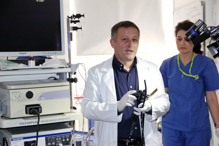 Dr. Marcel Tanțău în Blocul operator de endoscopie digestivă