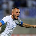 Dubla lui Kostas Mitroglou a dublat şansele de calificare ale Greciei la turneul final al Cupei Mondiale,   în detrimentul României