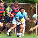 Philip Falamoe (foto,   în albastru) este unul dintre cei mai constanţi rugby-işti din lotul fostei campioane Ştiinţa Baia Mare