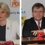 Deputatul Andreea Paul și președintele PSD Satu Mare,   Mircea Govor