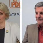 Deputatul Andreea Paul și primarul orașului Tășnad,   Vasile Mitrașca