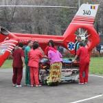 Copilul a fost transferat la o clinică din Cluj cu un elicoper SMURD / Fotoreporter: Vasile Mihovici