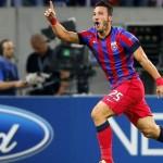 Federico Piovaccari a marcat,   miercuri,   al 10-lea gol în tricoul Stelei,   dar bucureştenii nu au obţinut victoria la Basel / sursa foto: sky.it
