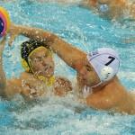 Echipa naţională de polo pe apă a României a pierdut (scor 5-15) meciul de debut în actuala ediţie a Ligii Mondiale, în faţa Rusiei