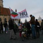 A 12-a săptămână de proteste în Piața Unirii
