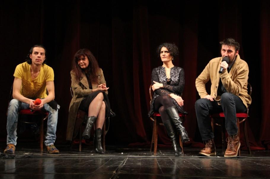 Cristian Grosu,   Miriam Cuibus,   Elena Ivanca și Ionuț Caras,   față în față cu publicul/Foto: Dan Bodea