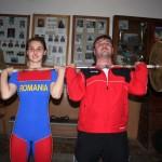 Denisa Felecan (stânga), alături de tatăl și antrenorul ei, Ionuț Felecan (dreapta)/ Foto: Dan Bodea