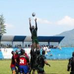 """Ionuţ Mureşen (foto,   în săritură) este un produs al şcolii clujene de rugby,   """"antamat hoţeşte"""" de campioana RCM Timişoara"""