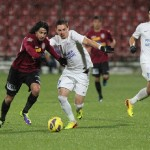 Rui Pedro (foto, în vişiniu) a marcat unul din cele şase goluri ale CFR-ului în victoria cu 6-1 împotriva celor de la Săgeata Năvodari / Foto: Dan Bodea