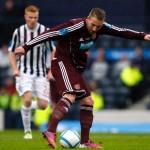 """Titular de drept la Hearts of Midlothian,   Ryan Stevenson a refuzat oferta de a juca la """"U"""" Cluj / sursa foto: dailzrecord.co.uk"""