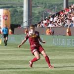 Sergiu Buş a marcat 7 goluri în prima parte a campionatului pentru Corona Braşov,   iar din această iarnă ar putea marca pentru Dinamo,   dacă transferul se va realiza / Foto: Dan Bodea