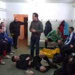 Cel mai bun arbitru de rugby din România,   Vlad Iordăchescu (foto,   în picioare în centrul imaginii) a ţinut la Cluj o serie de cursuri teoretice şi practice de aplicare a regulamentului jocului de rugby